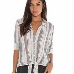 Anthropologie Cloth & Stone tie-front blouse
